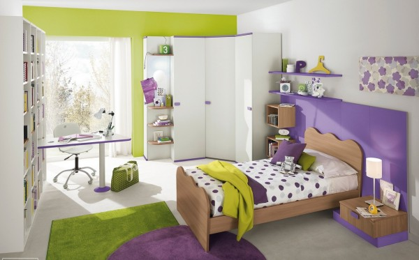 4-Purple-green-girls-bedroom-600x373