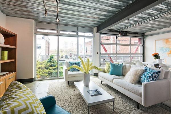 爽やかっこいい!白基調のスタイリッシュで素敵なアパート-Capitol Hill Loft