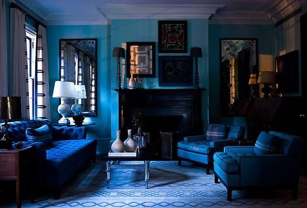 monochromatic-blue-rooms