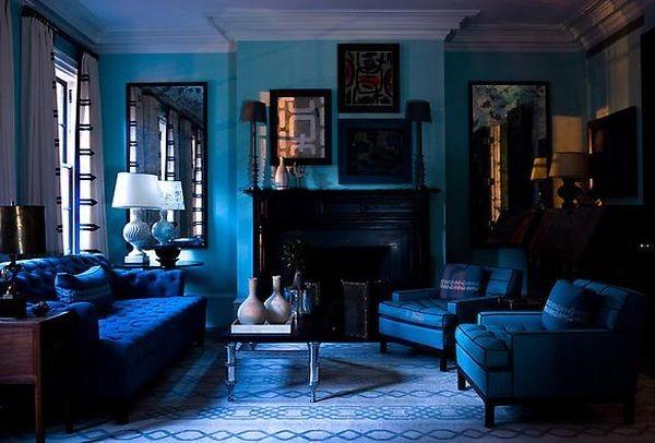 単色シリーズ!青に包まれる部屋-Monochromatic Blue Rooms