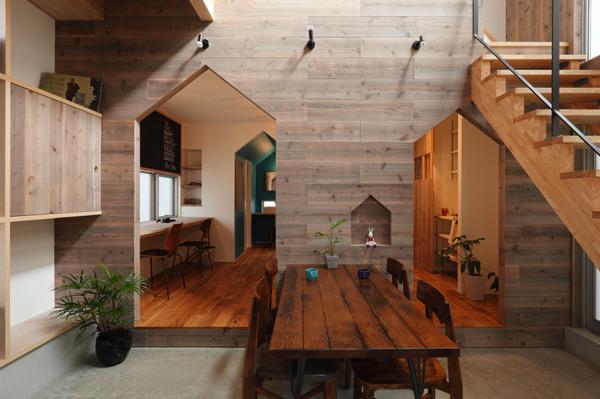 巣箱みたいでカワイイ! 家の中にたくさん家があるようなデザインの住宅 – hazukashi house