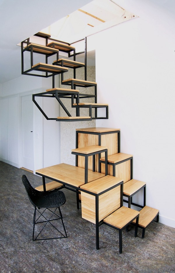 家に置きたい!階段になる画期的なデスク-An epoch-making desk