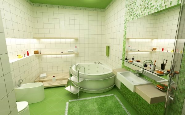monochromatic-green-rooms