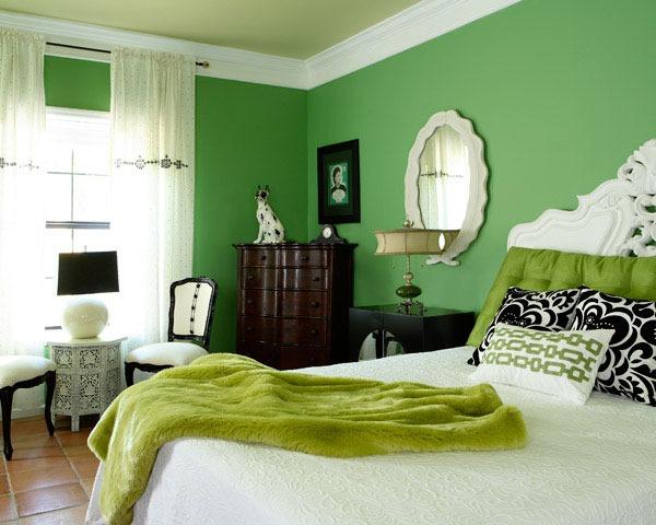 単色シリーズ?緑で癒される部屋-Monochromatic Green Rooms