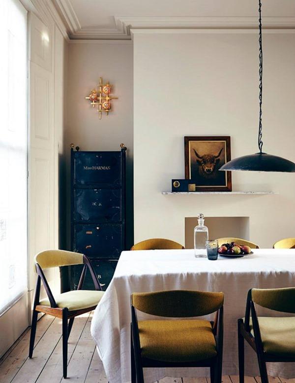 再生された織物が素敵!インテリアデザイナーのオシャレな家-A DESIGNER'S HOME IN EAST LONDON