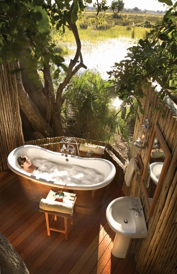 まさに極楽! ラグジュアリーすぎる自然や陽射しをいっぱいに感じれるバスルーム – Sunlight Streams into Bathrooms