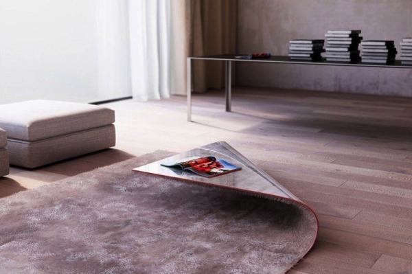 気づかずにつまずきそう!?カーペットと同化したテーブル−Carpet Table