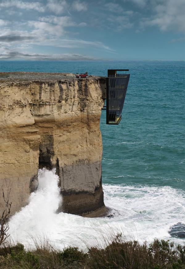 断崖絶壁!住むにはちょっと怖い、スリリングな別荘−Cliff House