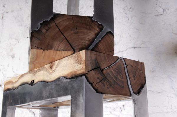 異素材の組み合わせがここまで美しいなんて!アルミと木材の家具−wood casting