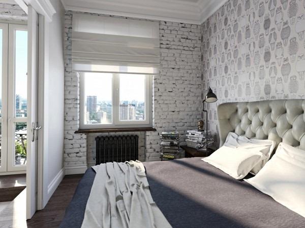 フクロウの壁紙がハイセンス!男女問わず参考になる白黒コーデの部屋-Homey Feeling Room Designs