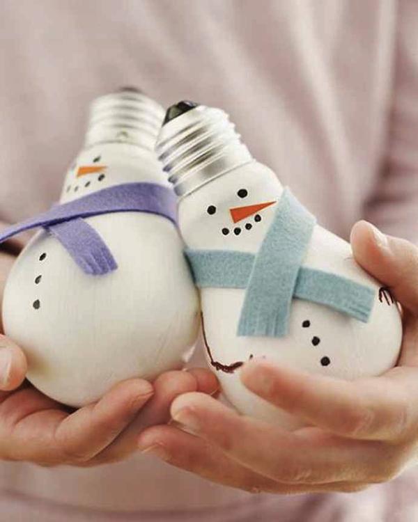 家でつくれる!電球を使ったクリスマスのかわいい飾り – Light Bulbs of Christmas