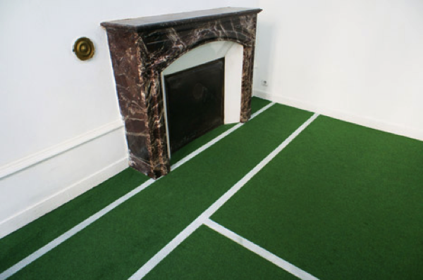 apartment into a tennis court