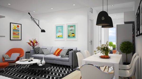 orange-scandinavian-apartment