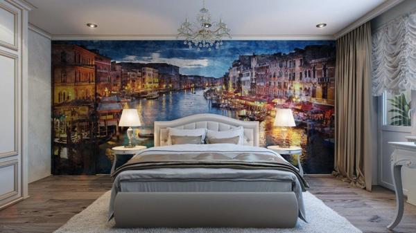 気分はまるで旅行先!ヴェニスの夢を見せてくれそうな素敵すぎる寝室