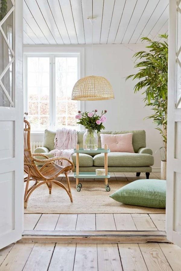 爽やカラー!自然素材が気持ち良いフレッシュな部屋