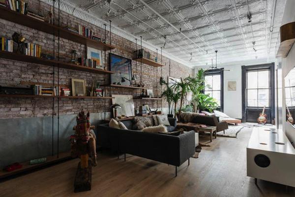 泊まってみたい!カフェのような雰囲気がかっこいいN.Y.の部屋
