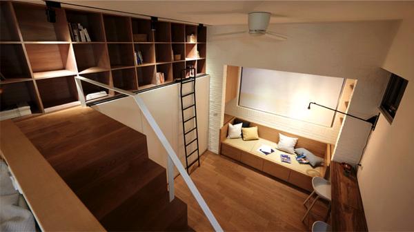 限られたスペースを有効活用!13畳のアパートが秘密基地っぽくて素敵!
